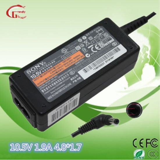 Replacement AC DC Power Adapter Laptop Charger Power Supply 10.5V 1.9A 4.8X1.7mm for Sony pictures & photos