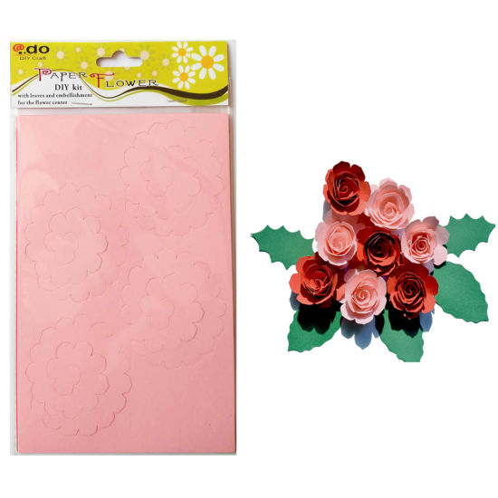 China paper flower diy handmade material kit of big rolled rose paper flower diy handmade material kit of big rolled rose mightylinksfo