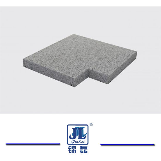 Hot Sale Natural Chinese Sesame Dark Grey Granite Stone Flamed Surface Bullnose Edge Pool Coping for Swimming Pool