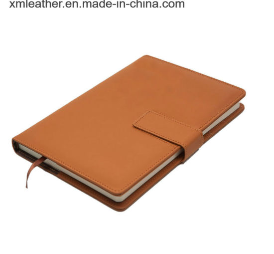 Refillable Writing Journal PU Leather Notebook with Pen Holder