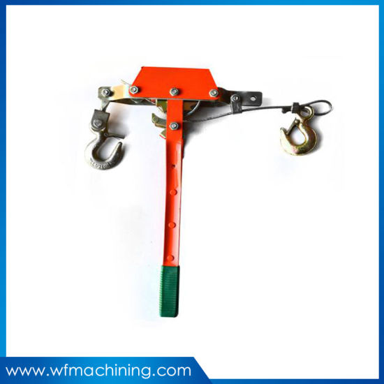 Cable Grips Hand Operate Ratchet Cable Puller Machine Wire Rope Tightener