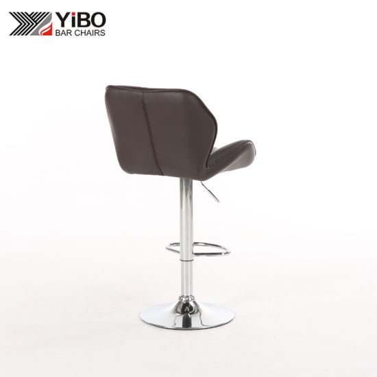 Swell China Pu Leather Swivel Commercial Bar Stool With Footrest Inzonedesignstudio Interior Chair Design Inzonedesignstudiocom