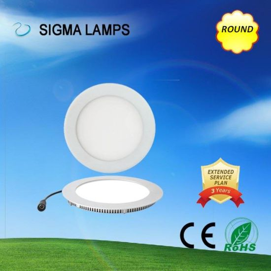 Sigma Residential Round Square Slim Recessed Surface Mounted 9W 12W 15W 18W 24W 30W Ceiling Lamps LED Panel Bulbs