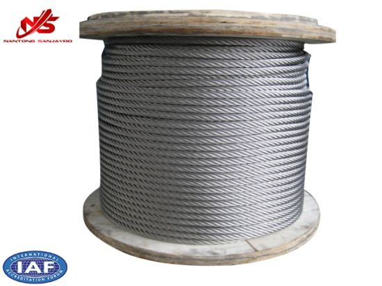 Nantong Ropeway Galvanized Steel Wire Rope 6X37 pictures & photos