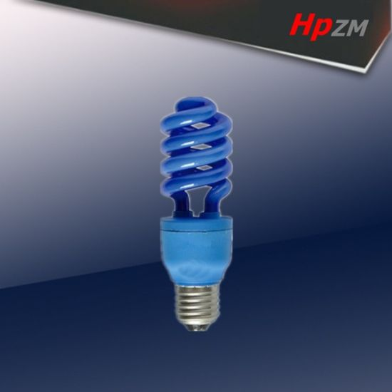 Half Spiral E27 blue-Tube Light Energy Saving Lamp pictures & photos