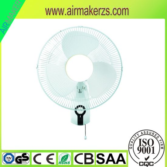 16 Inch Plastic Blade Wall Mounted Oscillating Fan pictures & photos