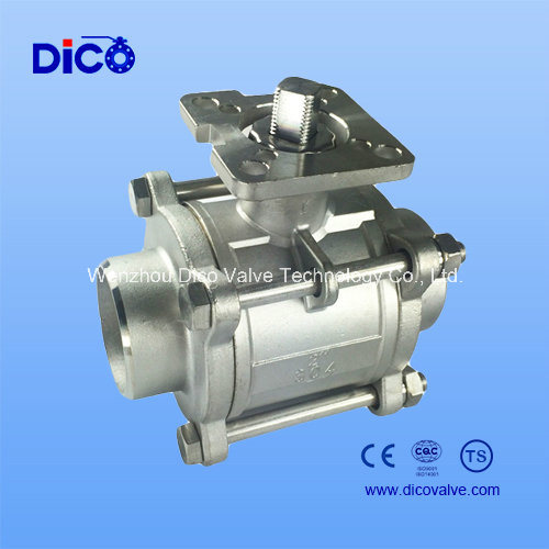 3PC Stainless Steel Ball Valve with ISO Direct Mounting Pad, Full Port 1000wog pictures & photos