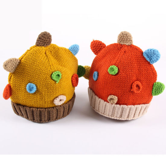 Good Quality Color Custom Wholesale Knitting Baby Hat pictures & photos