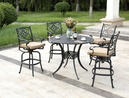 8 Person Die Cast Aluminum Outdoor Furniture Bar Table Wholesale
