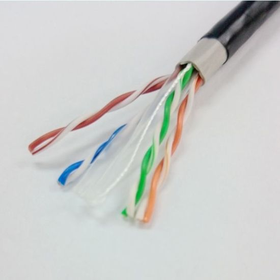 LSZH Copper CAT6 Double Shielded Twisted Pair Cable SFTP LAN Cable pictures & photos