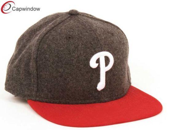 10e15fbc986 China Melton Wool on Snapback Hat with 3D Embroidery (01269) - China ...