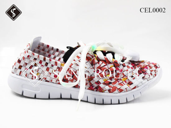 New Style Women and Kids Weave Shoes and Walking Shoes pictures & photos