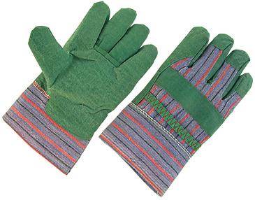 Green PVC Impregnated Palm Work Gloves-2800