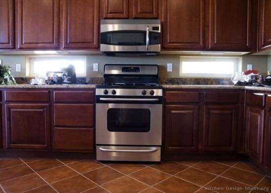 Kitchen Furniture Solid Wood Dark Cherry Kitchen Cabinets (DC)