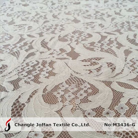 Fashion Apparel Cord Cotton Lace Fabric (M3436-G) pictures & photos