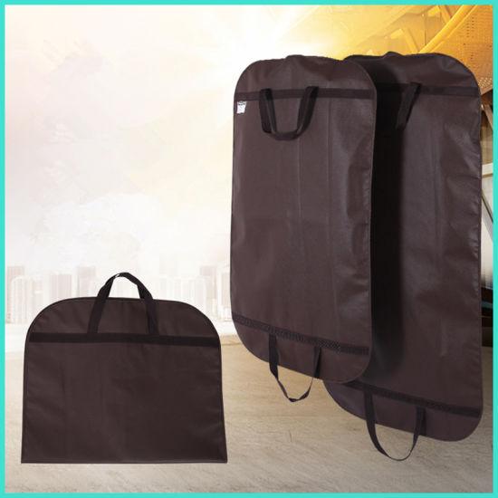 32acf40504 China Brown Dustproof Hanger Coat Clothes Garment Suit Cover Storage ...