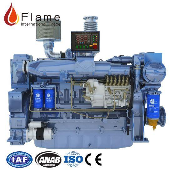 Weichai Wd12c350-18 350HP Marine Diesel Engine for Boat Engine