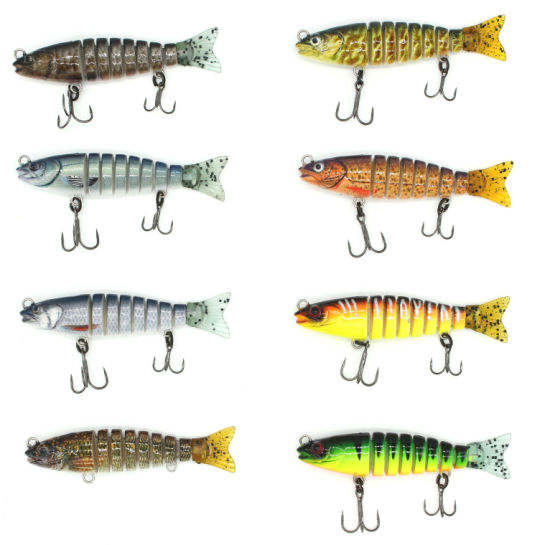 Js-14-7 Multi Fishing Lure 8 Sections Hard Swimbait Multi Jointed  Freshwater Plastic Live Bait