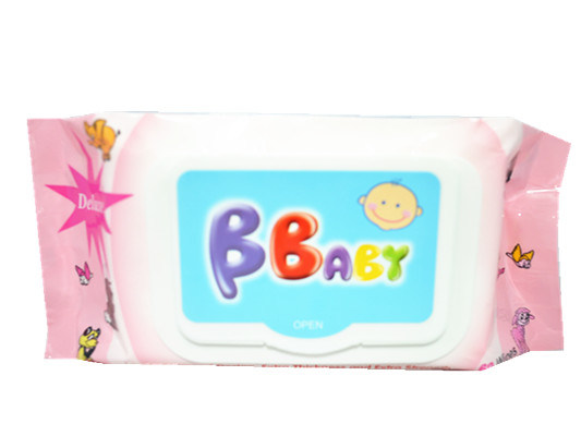Excellent Spunlace Baby Wet Wipes with Plastic Lid Package