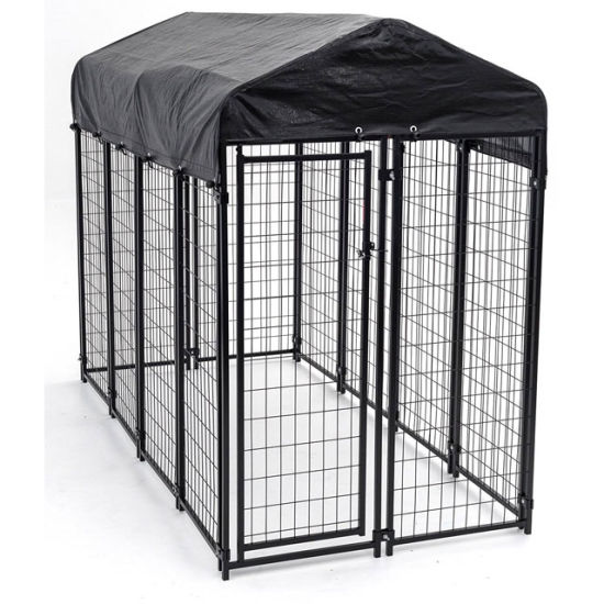 Black Color Outdoor Dog Kennel Panels