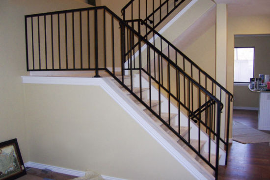 Grey Powder Coated Stair Metal Handrail for Home