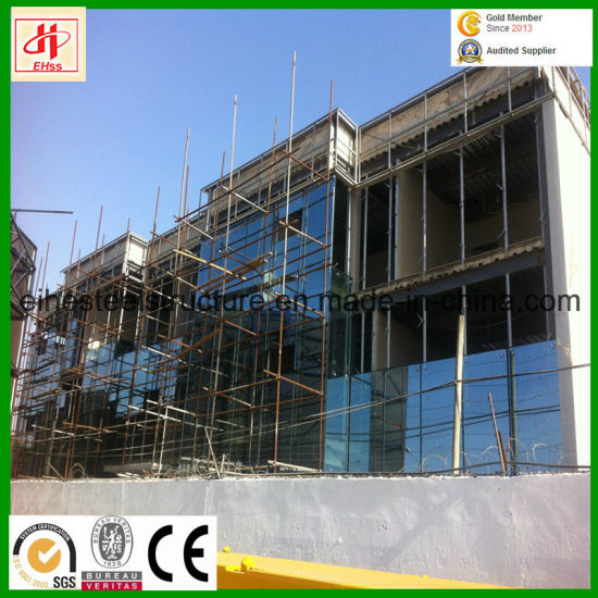 Glass Curtain Wall Three Storey Steel Strucure Building Office pictures & photos