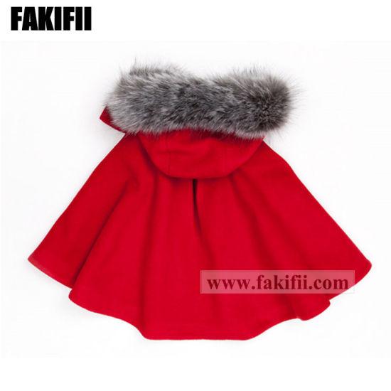 daeb6cb6d High End Children Apparel Kids Clothing Winter Red Woolen Coat Girl Winter  Jacket