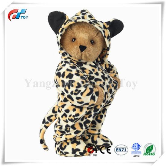 """15"""" Hoodie-Footie Leopard Bear Teddy Bear Toy"""