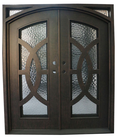 China Facorty Direct Selling Exterior Steel Door Double Entry Iron