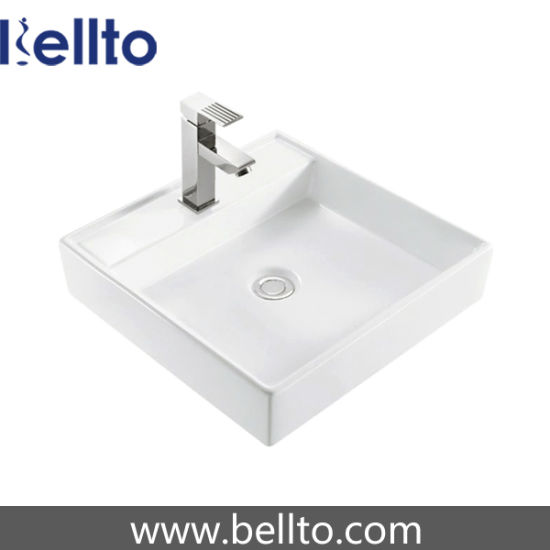 China Ceramic Square Vessel Sink 3341 China Vessel Sink Ceramic Sanitaryware
