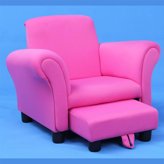 Lovely Single Seat Kids Chair With Foot Stool Sf 128 Pictures Photos