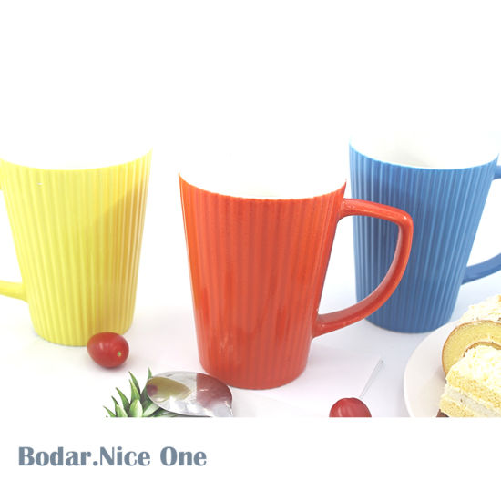 Promotional White Ceramic Cups Blue Printed Home Bulk Coffee Mug Cup Ceramic pictures & photos