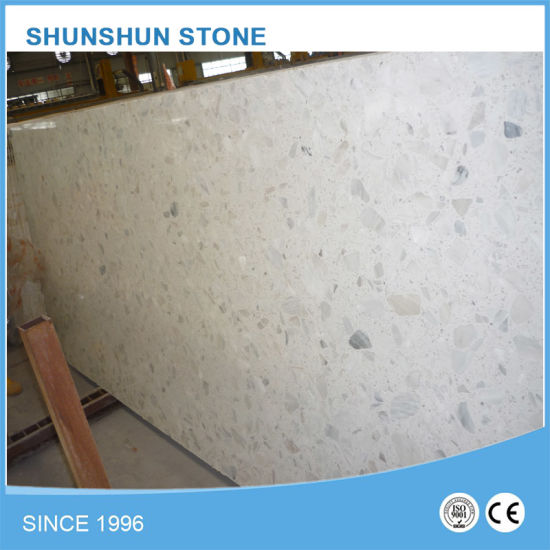 Cheap Price Artificial Stone White Calacatta Quartz Marble Slab for Countertop / Vanity / Bathroom Customizable pictures & photos