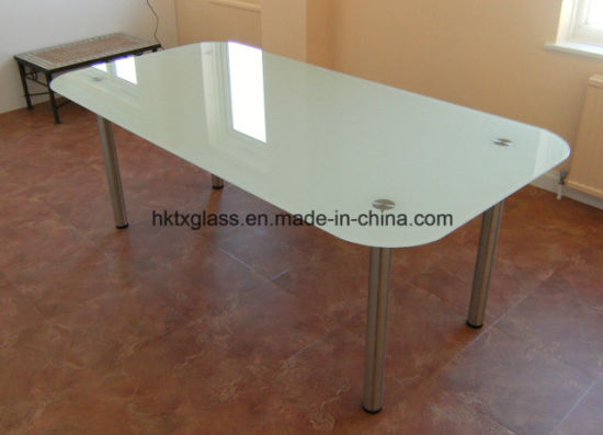 Scratch Proof Gl Table Top 12mm Frosted With En12150 Certificate