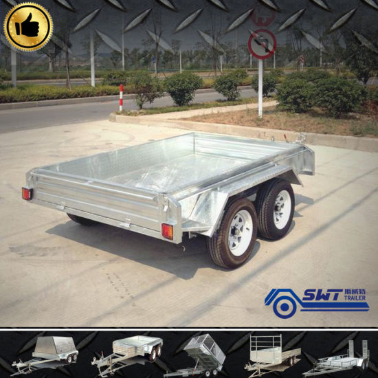 Competative Price Tandem Box Trailer Checker Plate pictures & photos