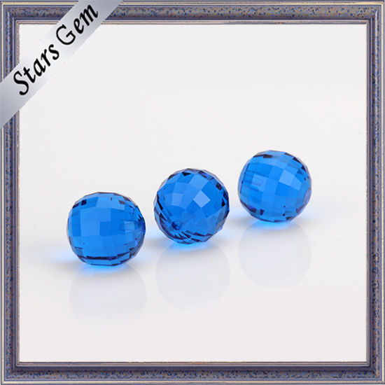 Fashion Clear Blue Synthetic Crystal Bead for Jewelry