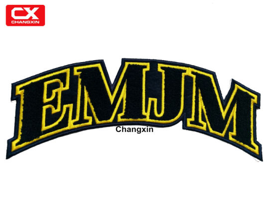 China Custom 100 Towel Patch Embroidery Letter Chenille Patch For