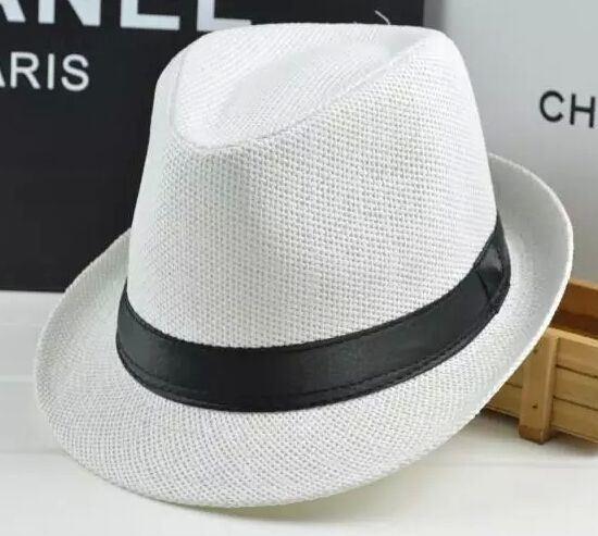 09f93845e04412 China Custom Straw Paper Basic Fedora Hat Summer Beach Hat - China ...