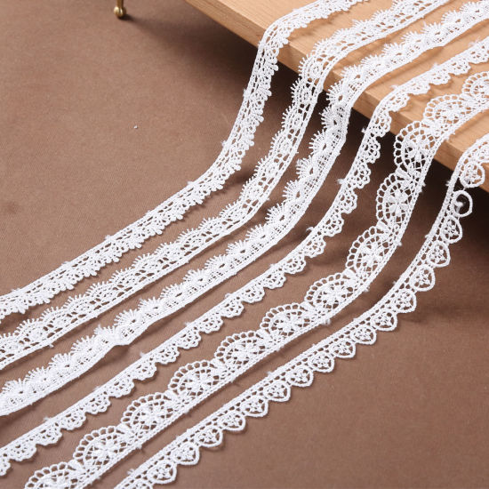 Customized Embroidery Guipure Lace Trim Ribbon