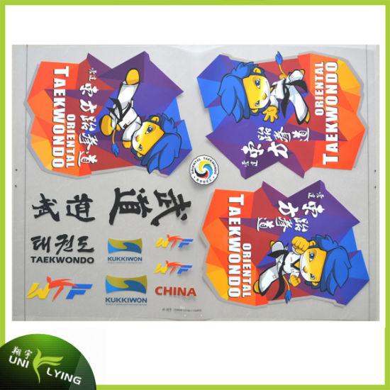 Good Washing Custom Cartoons Plastisol Heat Transfers Sticker for T-Shirt