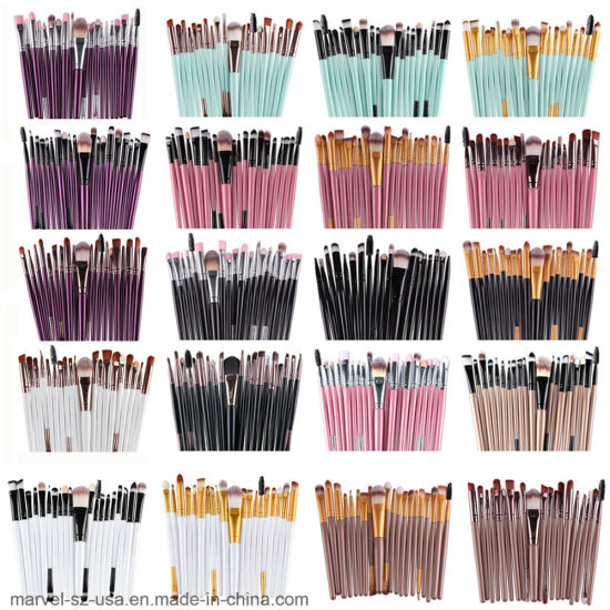20PCS Professional Powder Foundation Makeup Tools Eyeshadow Makeup Brushes pictures & photos