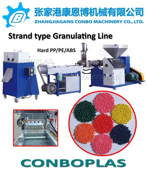 Plastic Recycling Machine/Plastic Granulator/Strand HDPE Milk Bottle Granule Making Machine pictures & photos