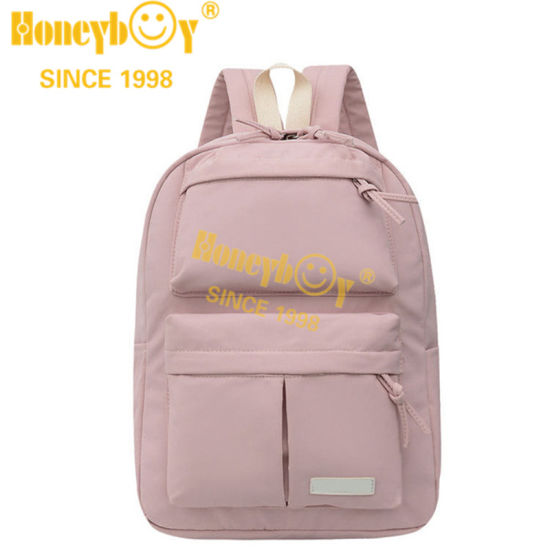 Mochila Candy Color Pink Backpack for Girls 2021 New Design Fashion Backp[Ack for Teenagers and Colleges