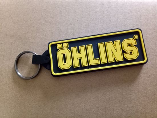 Logo Printed Silicone Rubber Keyring Wholesale pictures & photos