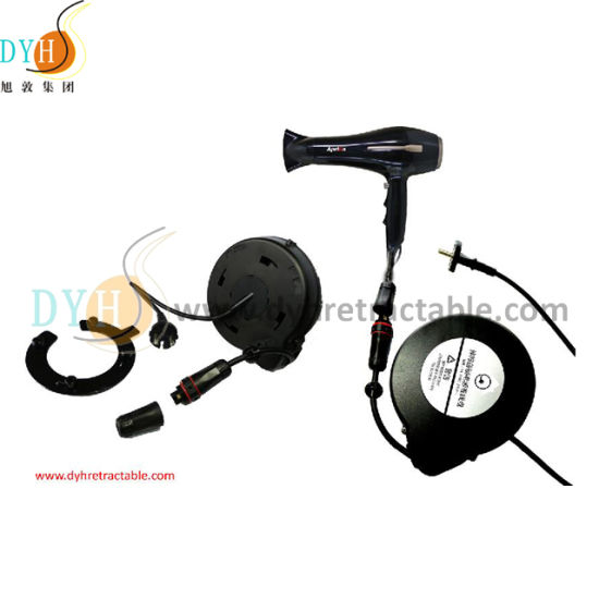 Stainless Steel Spring Loaded Retractable Cord Retractor for Hair Dryer
