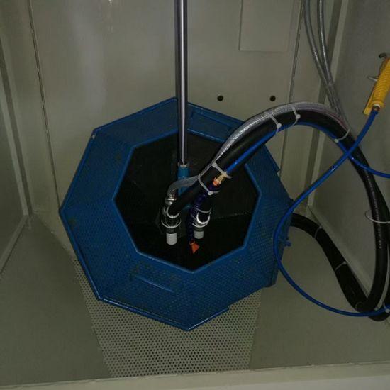 Double Gun Barrel Roller-Sandblasting Machine, Plastic Deburring Drum  Sandblasting Machine