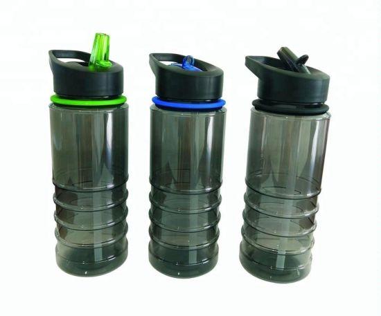 Tritan Plastic Sports Water Bottle with Straw