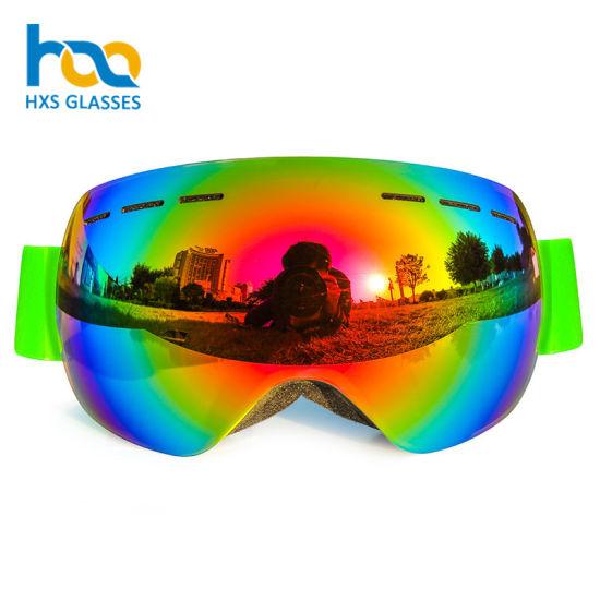 21ed297abbf China High Quality Unisex Branded Custom Strap Ski Goggles - China ...