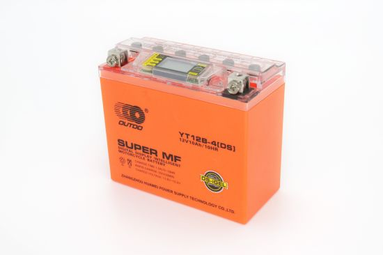 12V 10ah Yt12b-4 Outdo Digital Display Gel Mf Maintenance Free Factory Activated Power Sports High Performance Rechargeable Lead Acid Motorcycle Battery