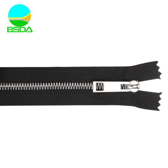 Customized Wholesale Closed End Stainless Steel Metal 3 Swiss Zipper Teeth